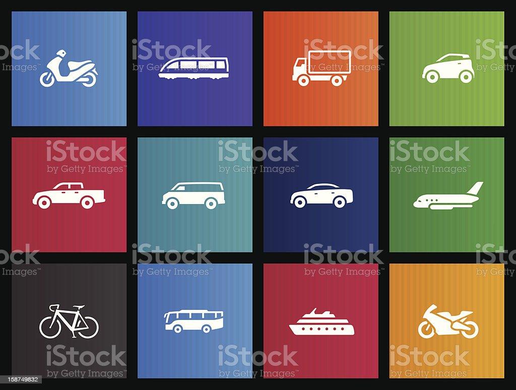 Metro Icons - Transportation royalty-free stock vector art