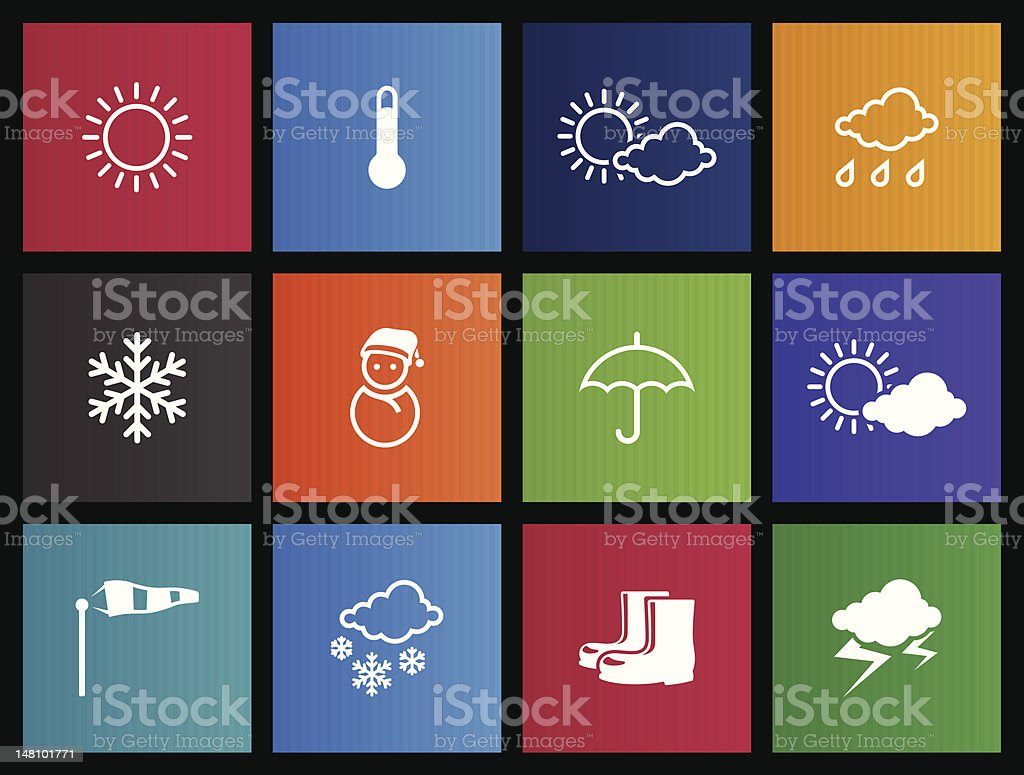 Metro Icons - Weather vector art illustration