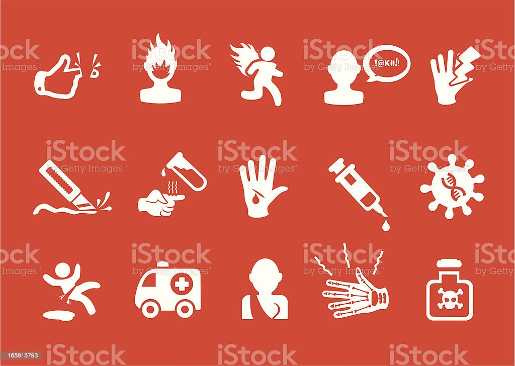 Metro Injury Icon royalty-free stock vector art