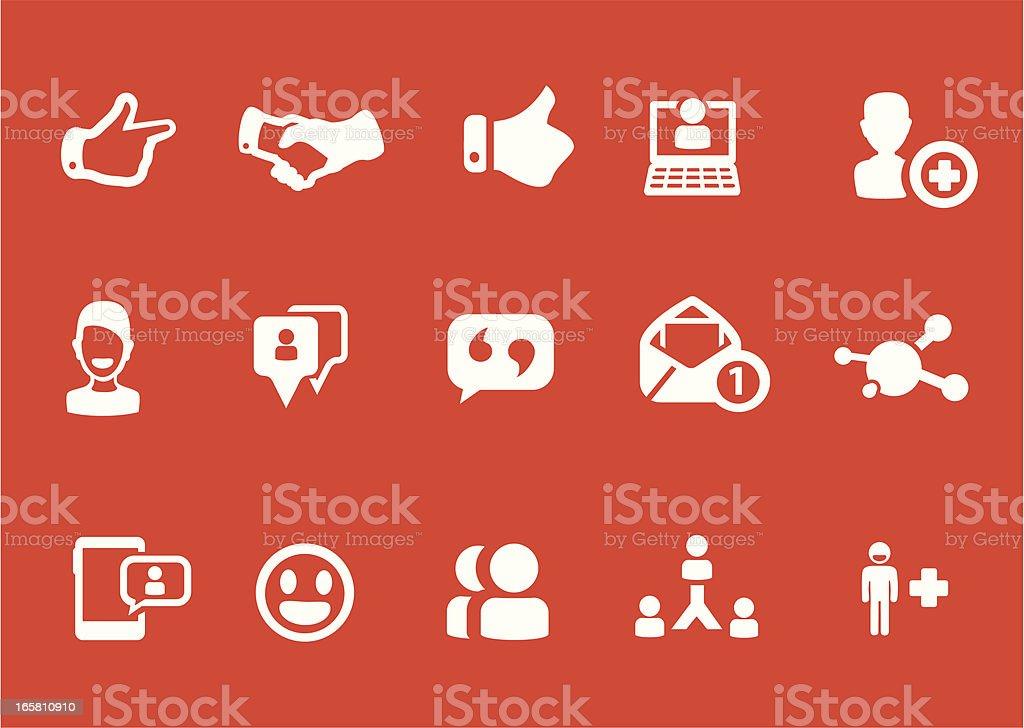 Metro Social Network Icons royalty-free stock vector art