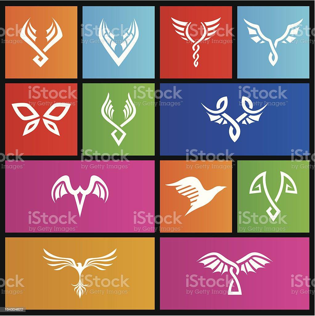 Métro style abstrait ailes de poulet stock vecteur libres de droits libre de droits