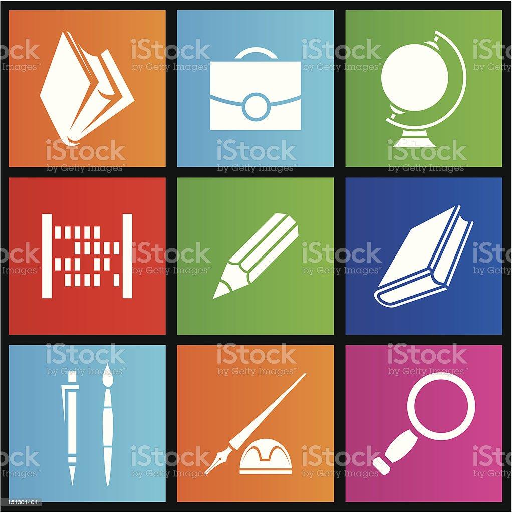 Métro style de l'école objets stock vecteur libres de droits libre de droits