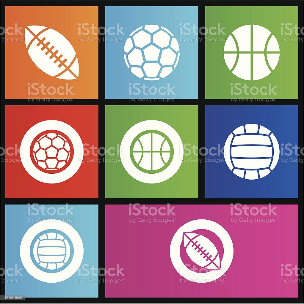 Métro style des balles de sport stock vecteur libres de droits libre de droits
