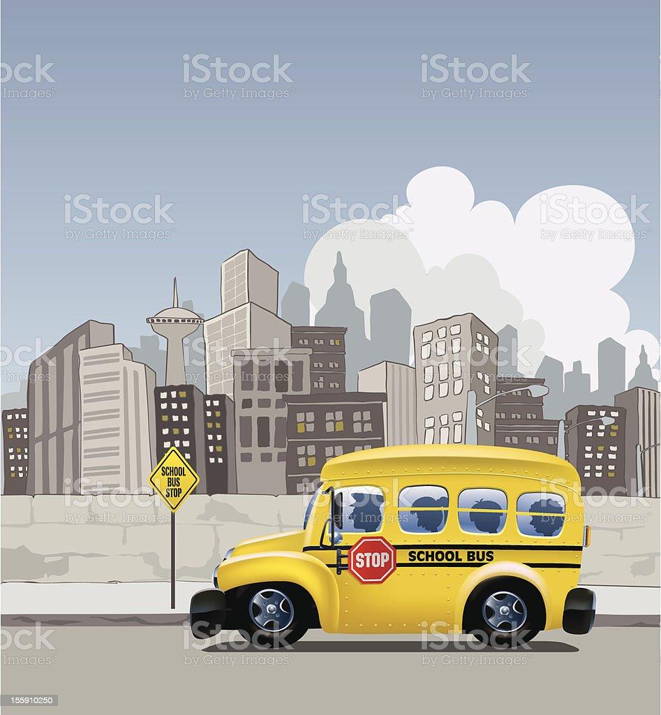Metropolitan School Bus royalty-free stock vector art