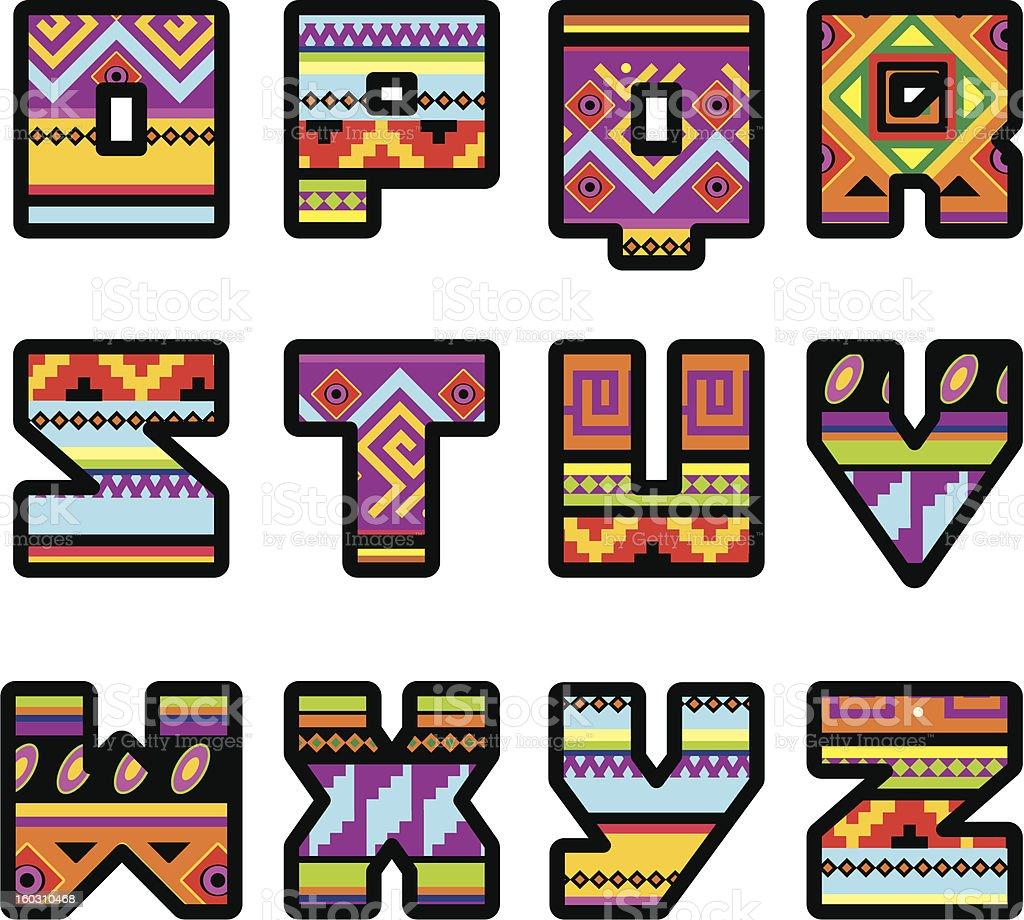 mexican alphabett. Ppart 2 royalty-free stock vector art