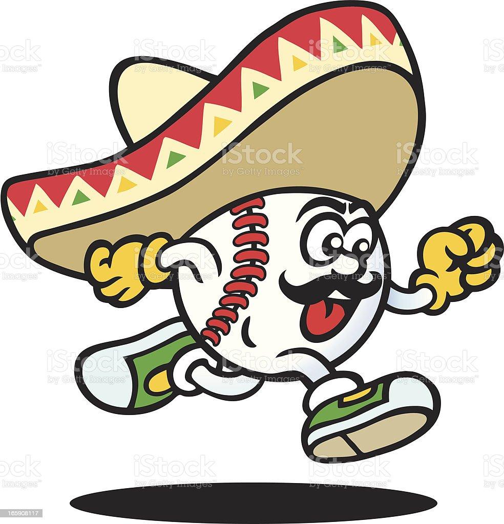Mexican Baseball vector art illustration