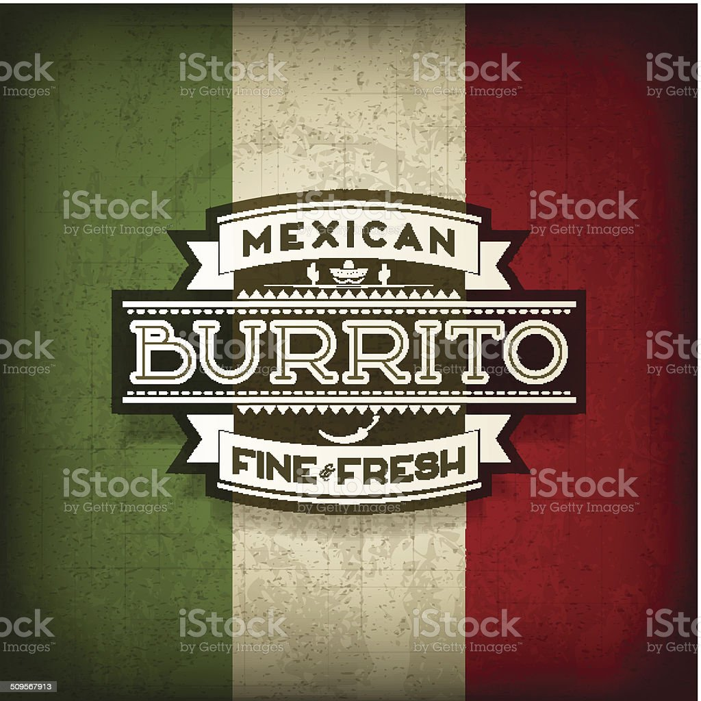 Mexican Burrito vector art illustration