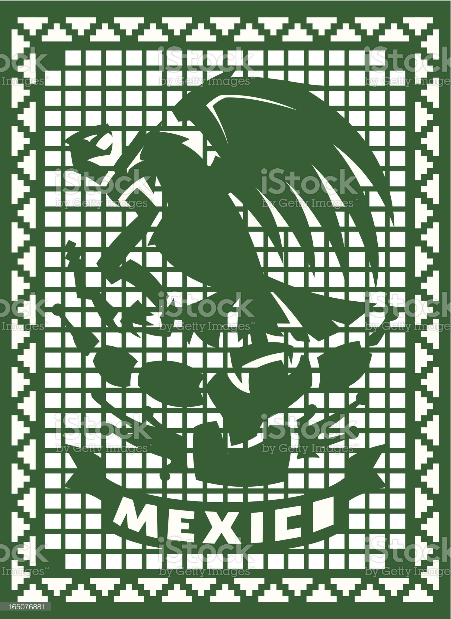 Mexican Celebration Cut out Paper royalty-free stock vector art