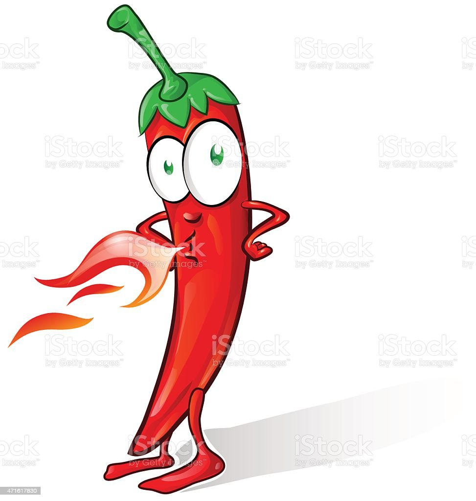 mexican chili cartoon isolated on white background vector art illustration