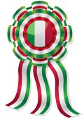 mexican cockade with red green and white stripes