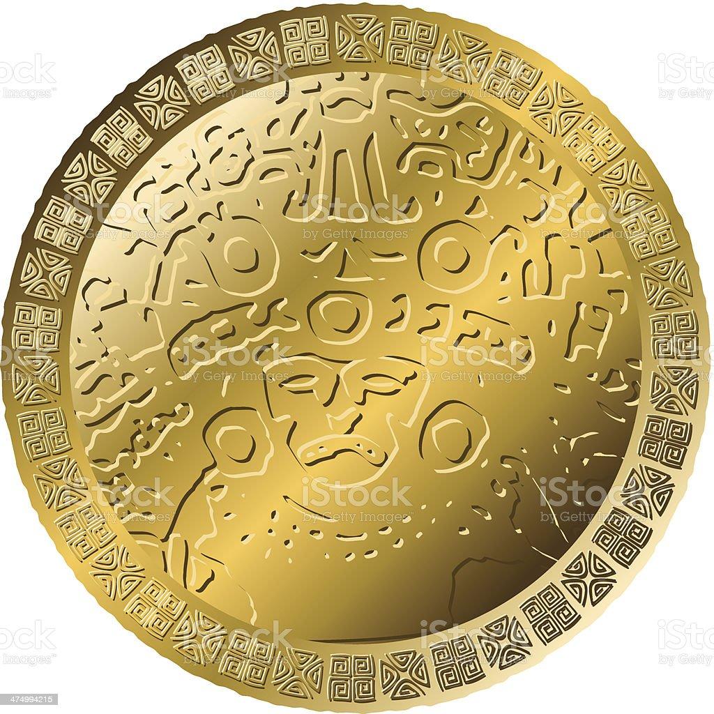 Mexican Coin vector art illustration