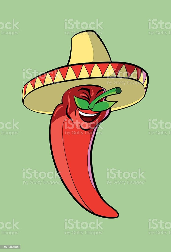 Mexican cuisine vector art illustration