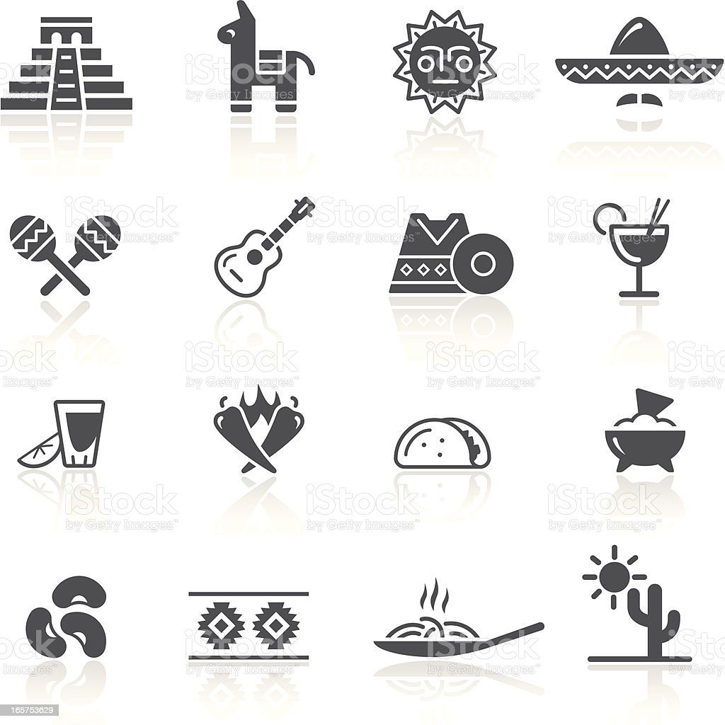 Mexican Culture & Food vector art illustration