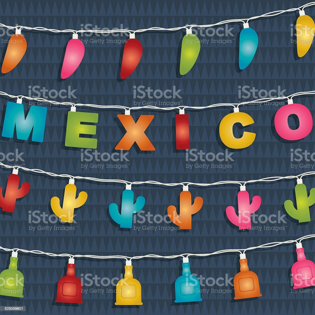 mexican decoration vector art illustration