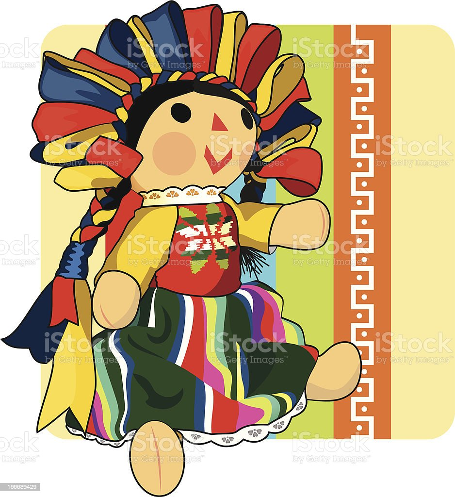 Mexican Doll vector art illustration