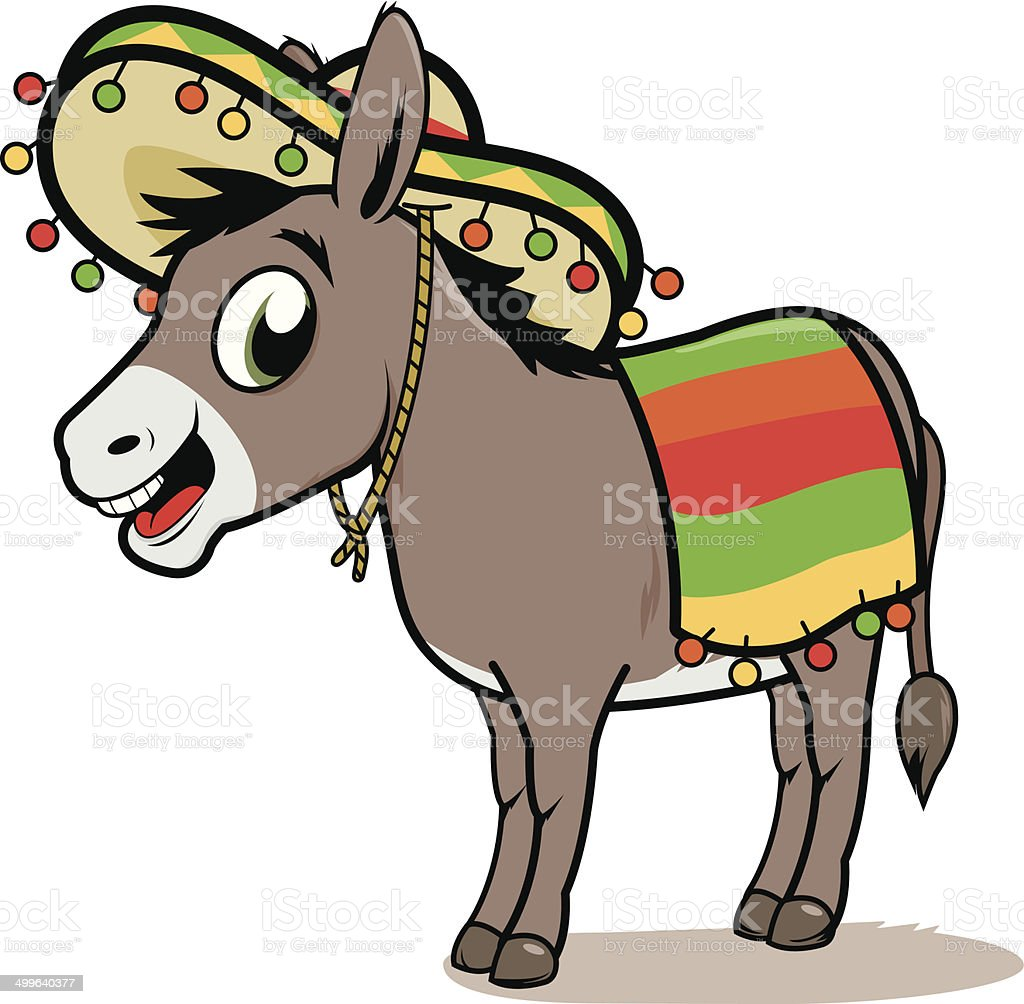 Mexican donkey royalty-free stock vector art