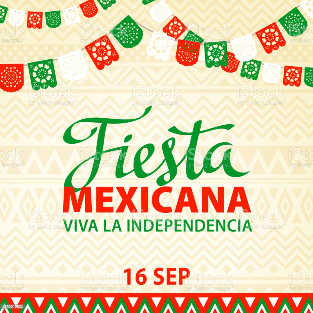Mexican Fiesta vector art illustration