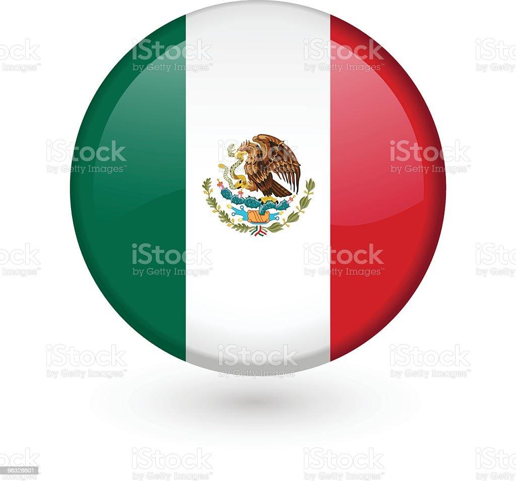 Mexican flag vector button vector art illustration
