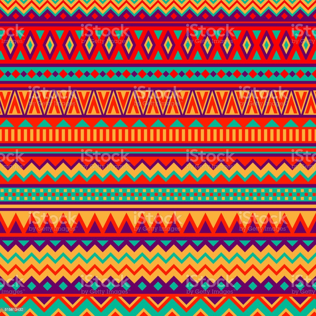 Mexican Folk Art Patterns vector art illustration