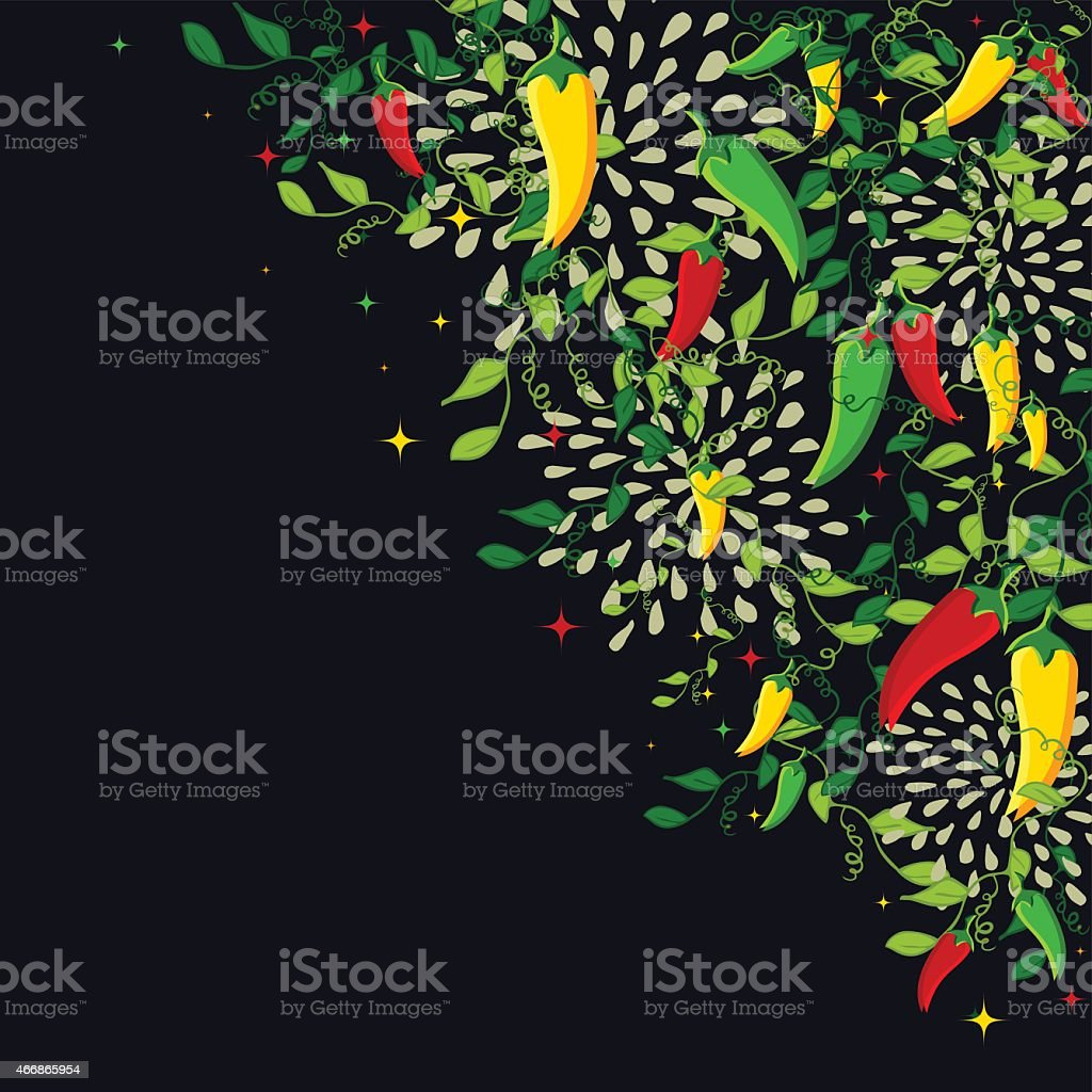 Mexican food background illustration vector art illustration