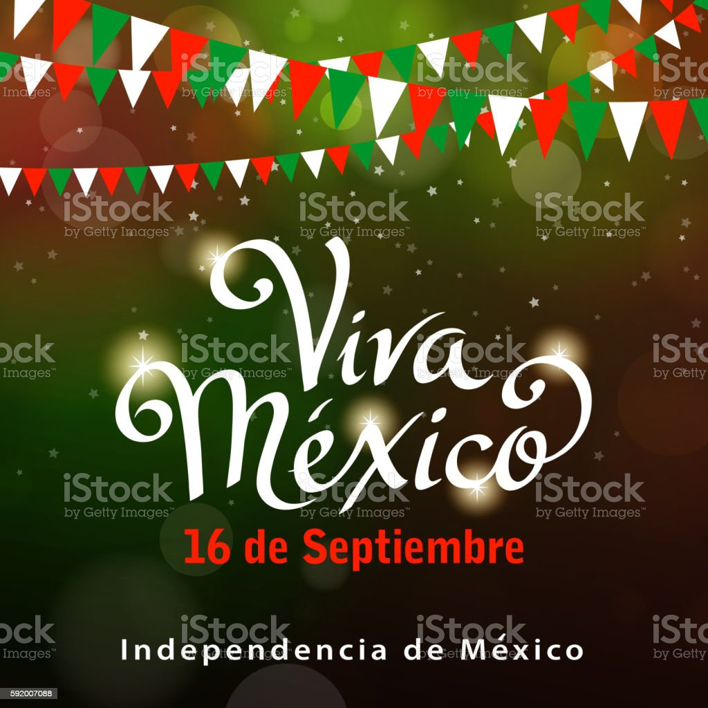 Mexican Independence Day Celebration vector art illustration