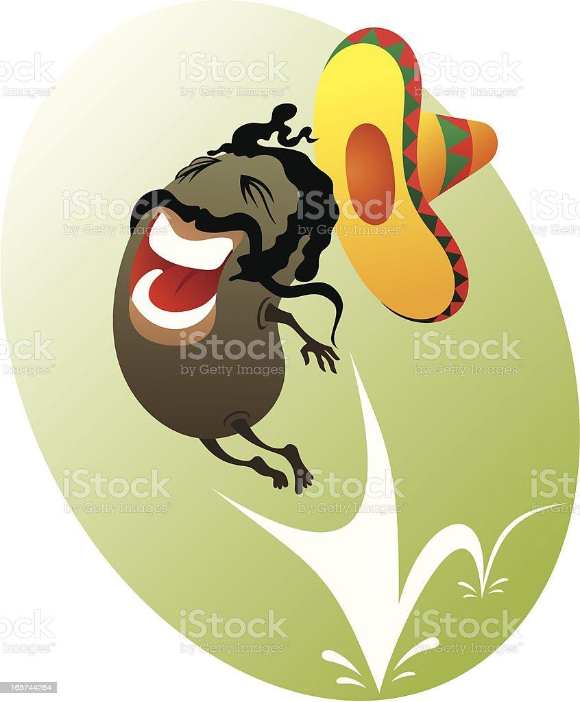 Mexican jumping bean royalty-free stock vector art