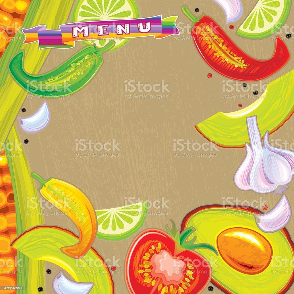 Mexican Menu vector art illustration