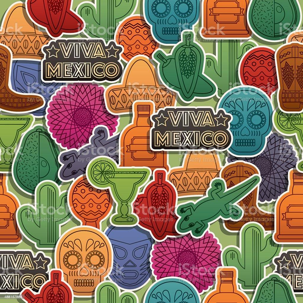 mexican pattern vector art illustration