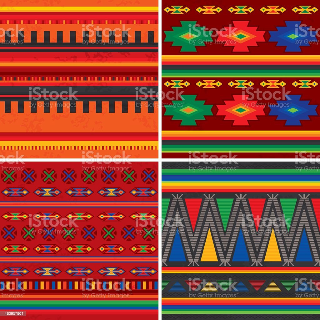 Mexican Patterns royalty-free stock vector art