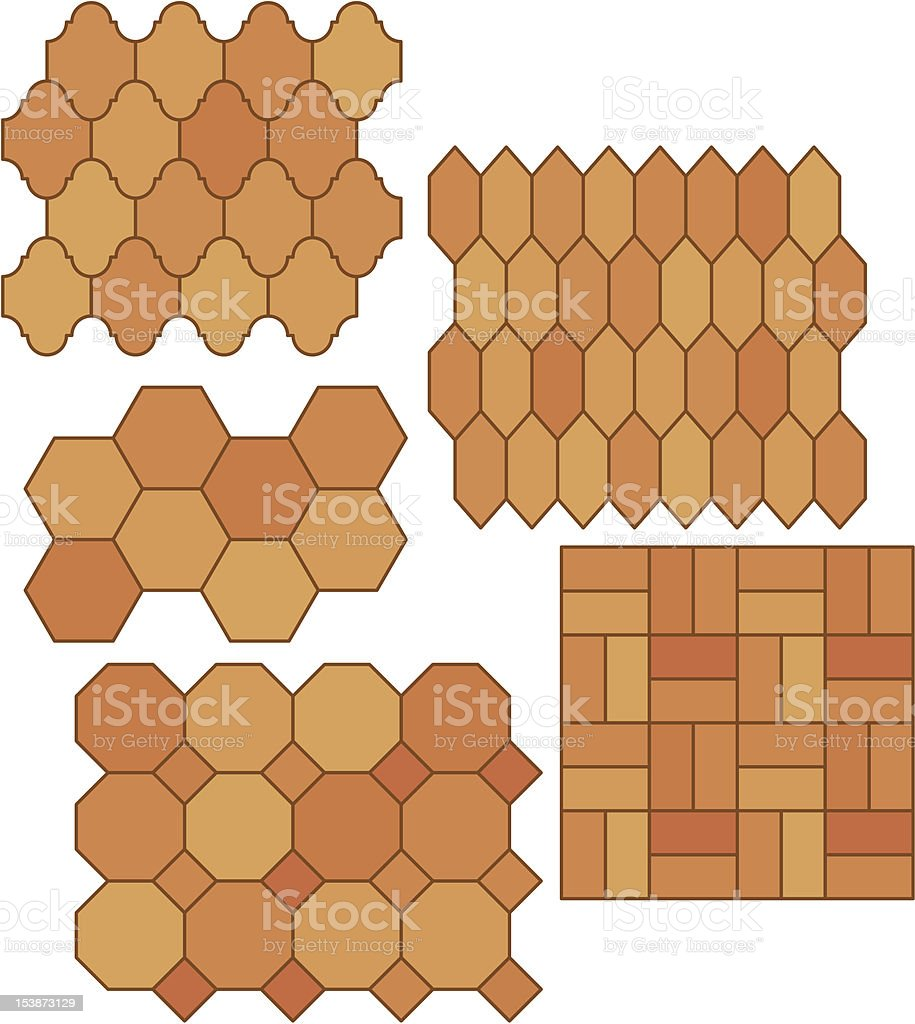 Mexican Pavers vector art illustration