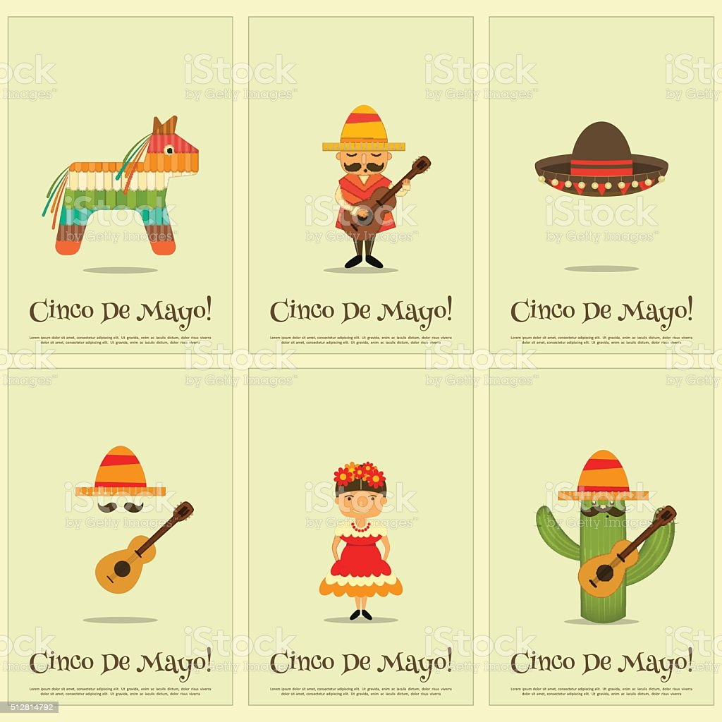 Mexican Posters vector art illustration