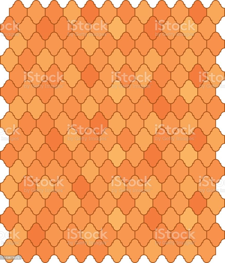 Mexican Saltillo Tile royalty-free stock vector art