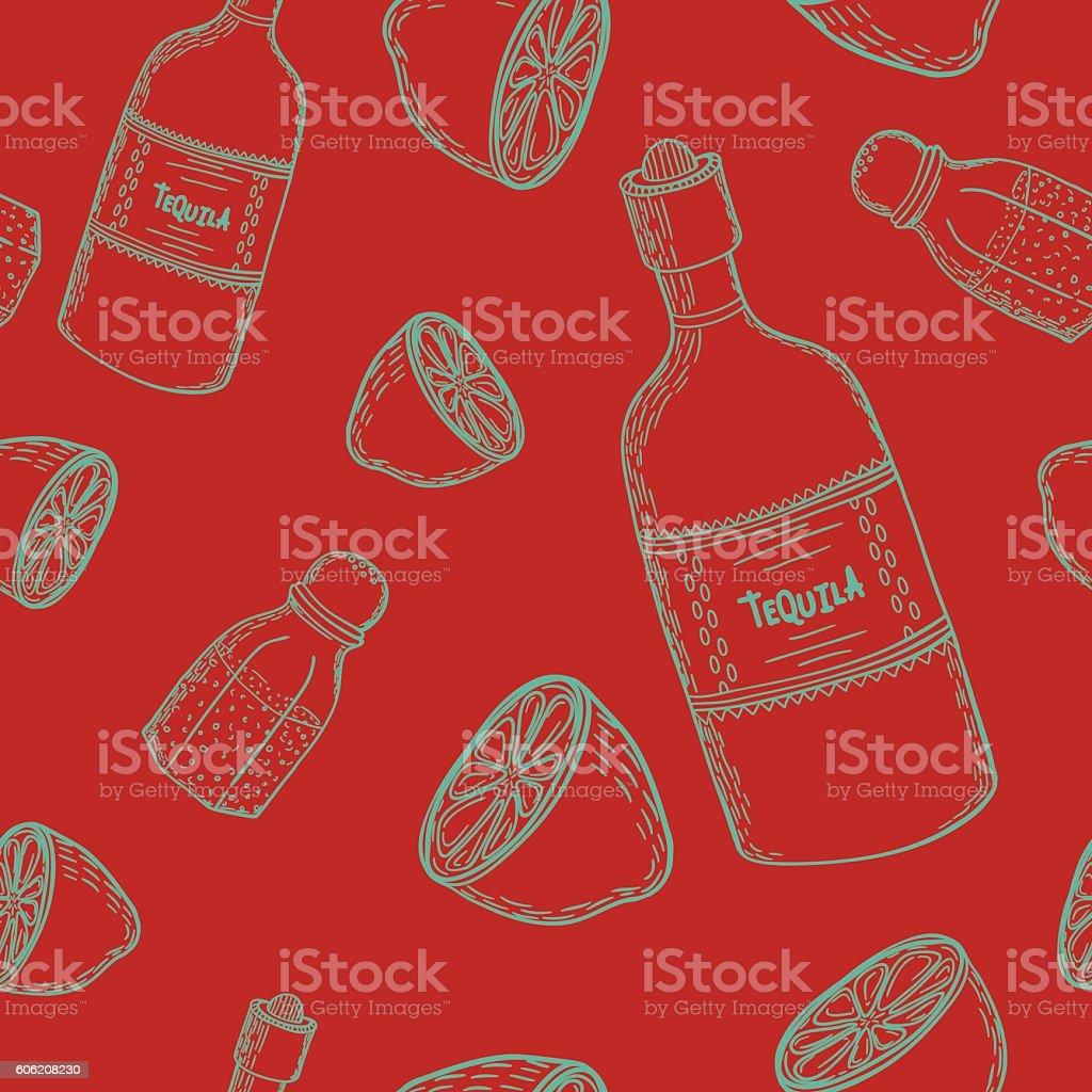 Mexican seamless pattern vector art illustration