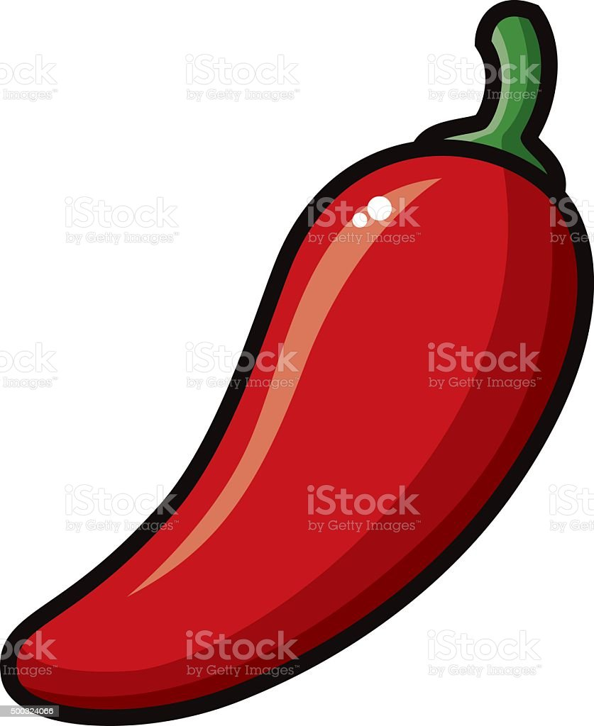 Mexican Style Hot Pepper Icon vector art illustration