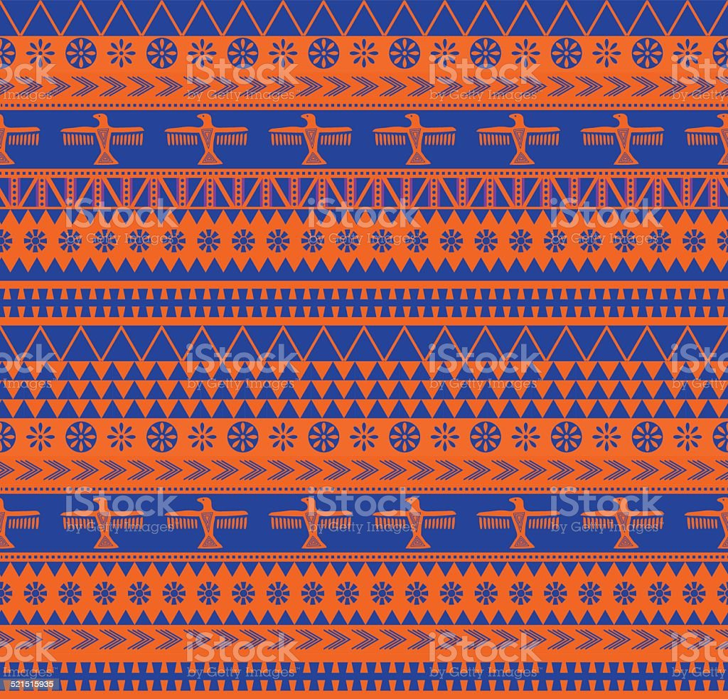mexican style pattern vector art illustration