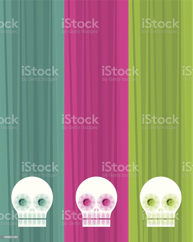 Mexican Sugar Skulls. Day of the Death vector art illustration