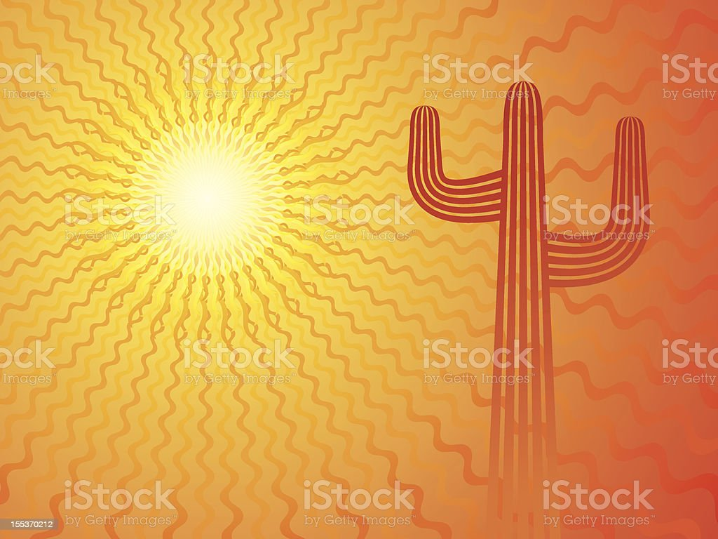 Mexican Sun vector art illustration