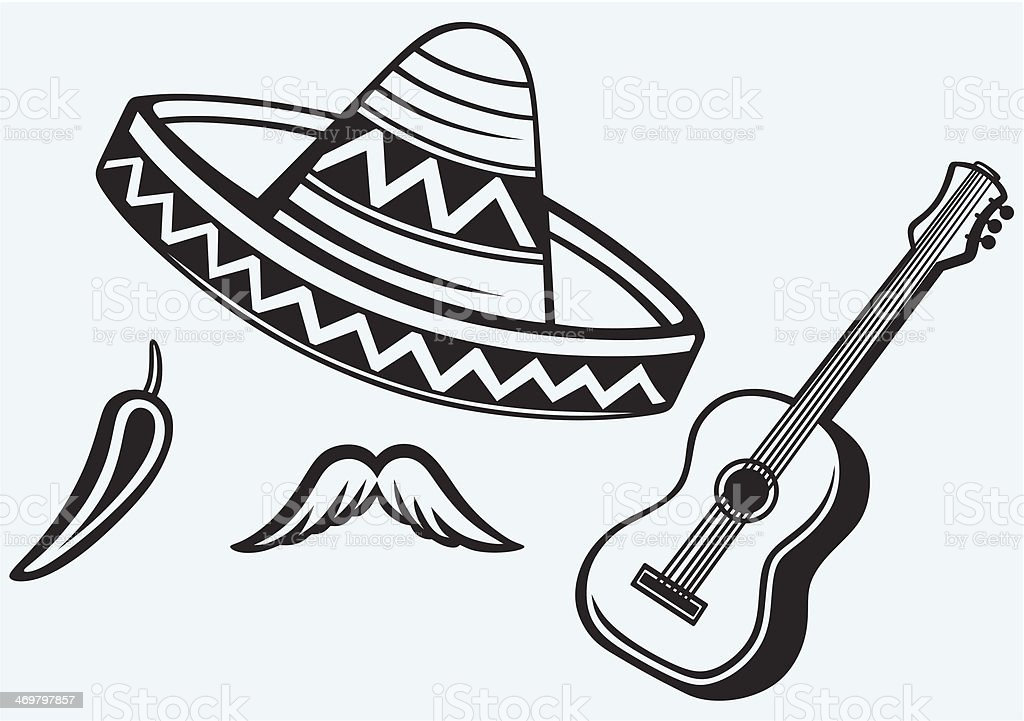 Mexican symbols royalty-free stock vector art