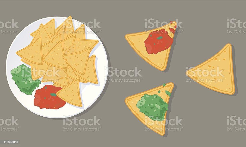 Mexican Tortilla Chip Icon vector art illustration