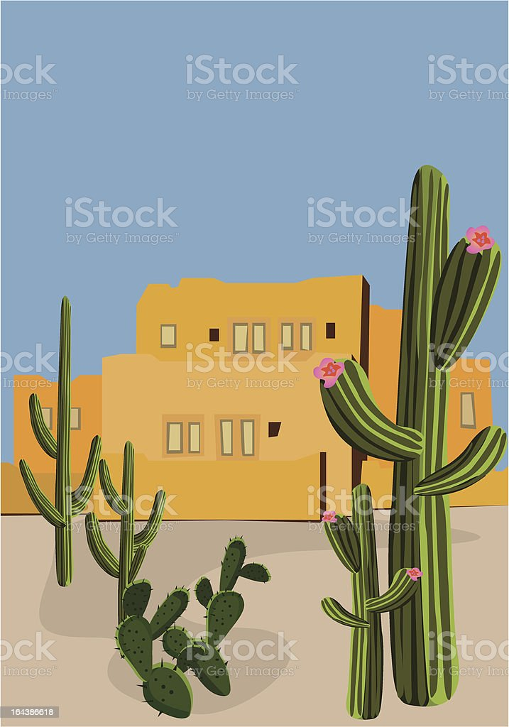 Mexican Village royalty-free stock vector art