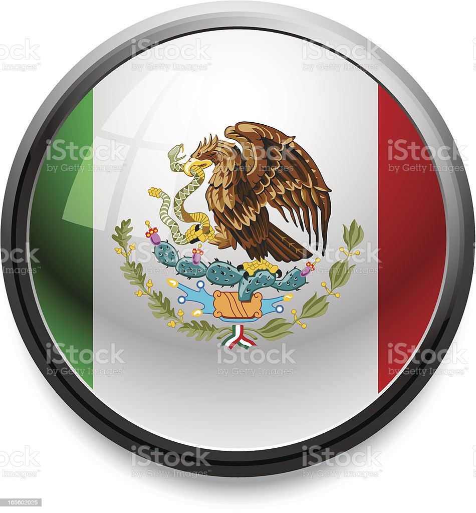 Mexico - Flag button royalty-free stock vector art