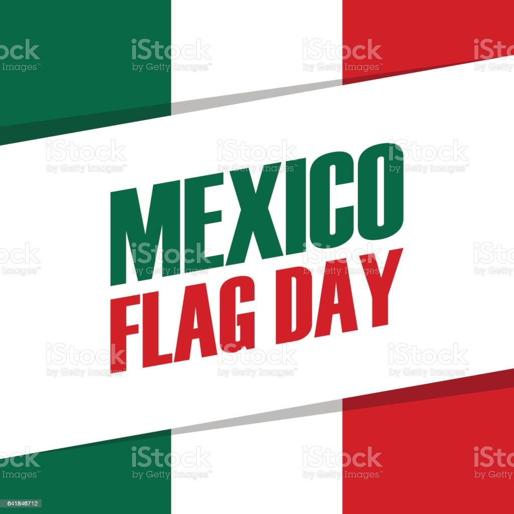 mexico flag day holiday banner 24th february stock vector art
