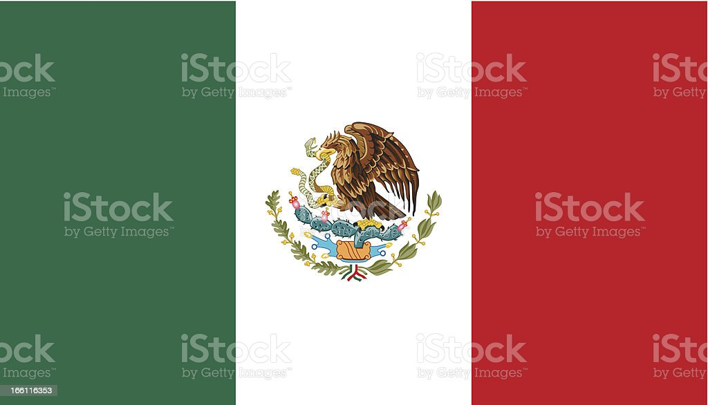 Mexico Flag vector art illustration
