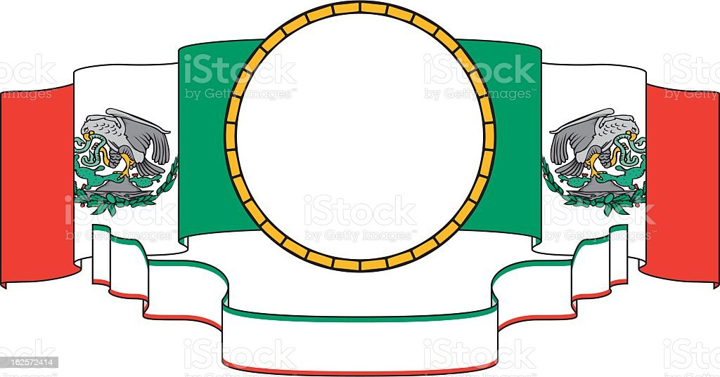 Mexico Frame, Flag and Banner royalty-free stock vector art