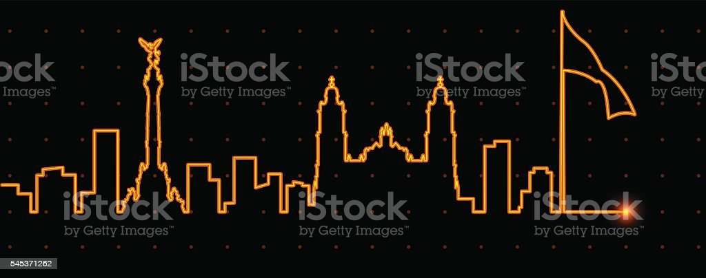 Mexico Light Streak Profile vector art illustration