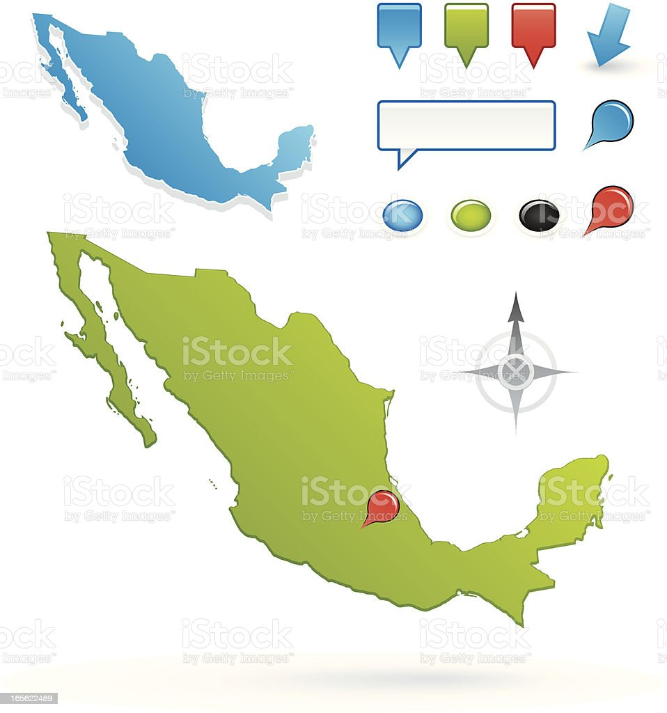 Mexico map royalty-free stock vector art