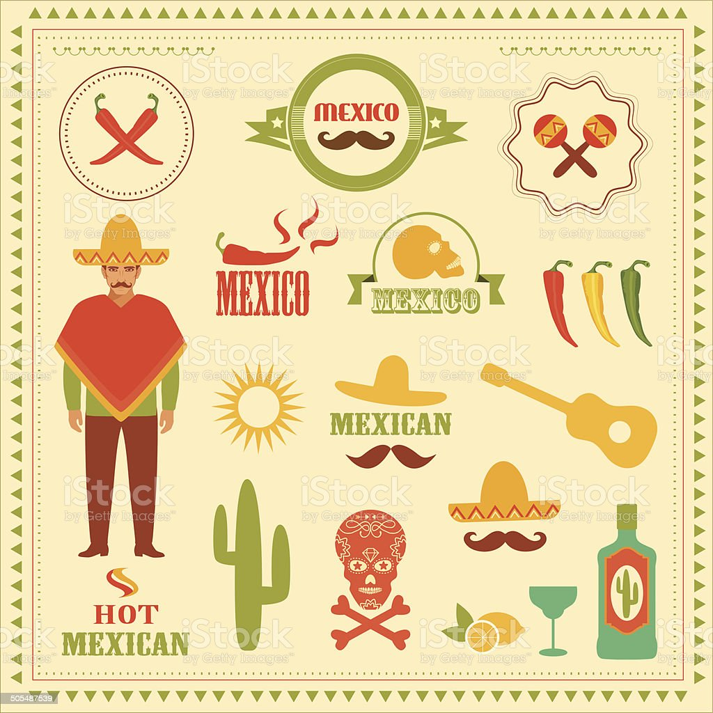 mexico vector art illustration