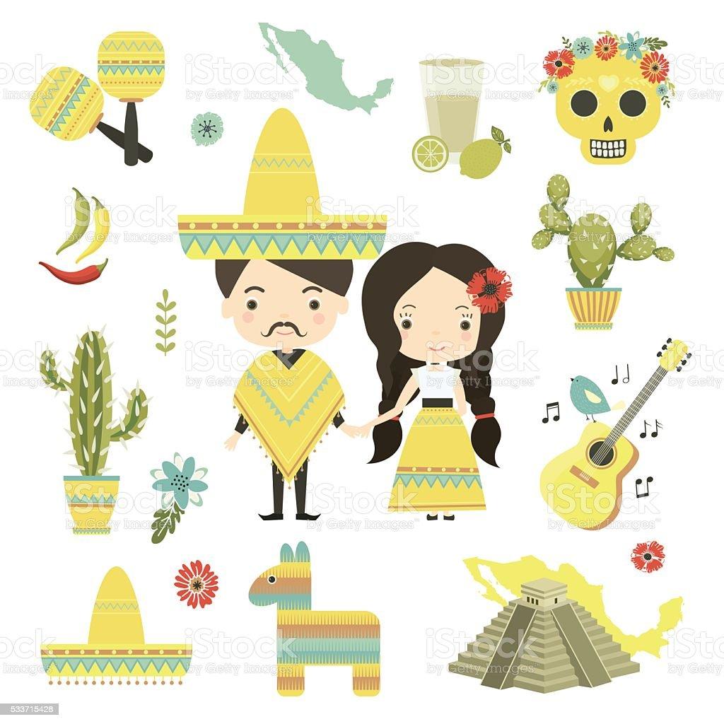 Mexico vector art illustration