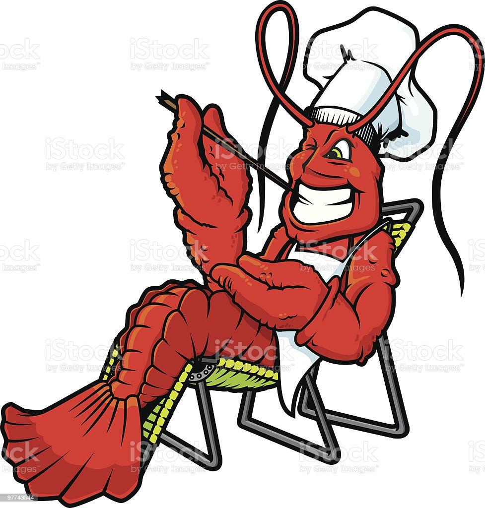 mi lobster es su crawfish royalty-free stock vector art