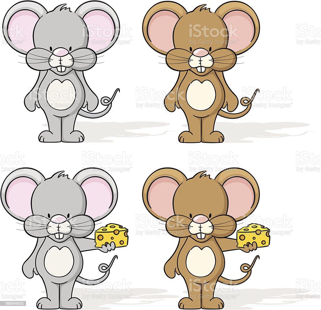 Mice vector art illustration